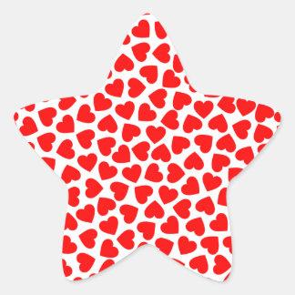 Herz-Herzen Stern-Aufkleber