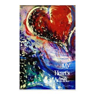 Herz-hilflos Valentinsgruß Briefpapier
