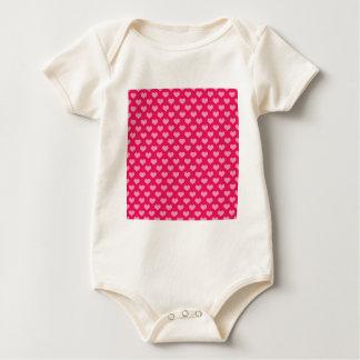 Herz-Hintergrund-Tapeten-Rosa Baby Strampler