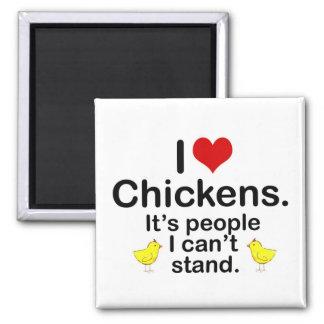 (Herz-) Hühner I Quadratischer Magnet