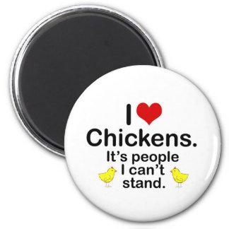 (Herz-) Hühner I Runder Magnet 5,7 Cm