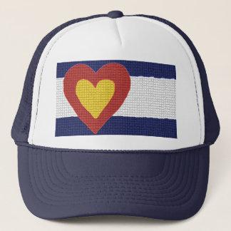 Herz I Colorado-Flaggen-Produkte! Truckerkappe