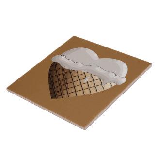 (Herz-) I Eiscreme! Vanille-Kegel Große Quadratische Fliese