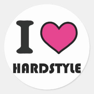 Herz I hardstyle Runder Aufkleber