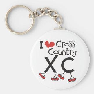 Herz I (Liebe) Querland, das XC laufen lässt Schlüsselanhänger