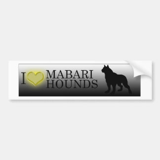 Herz I Mabari Jagdhunde Autoaufkleber