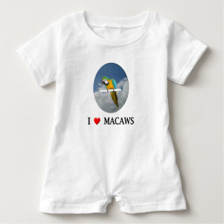 """Herz I"" Macaws Baby Strampler"