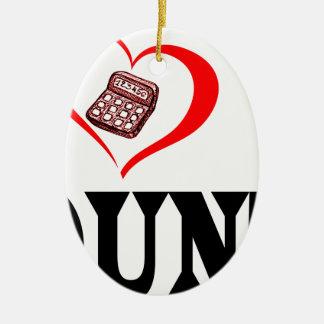 Herz I mein BUCHHALTER Keramik Ornament