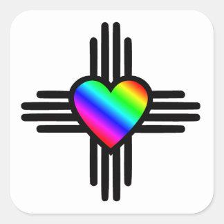 Herz I New Mexiko Quadratischer Aufkleber