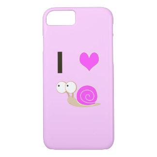 Herz I Schnecken - Rosa iPhone 7 Hülle
