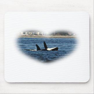 Herz I Schwertwal-Killerwal-Bauchreinfall Mousepad