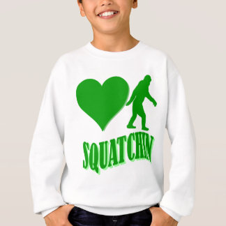 Herz I squatchin Sweatshirt