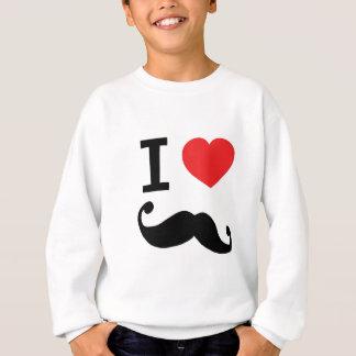 Herz I twirly Schnurrbart Sweatshirt