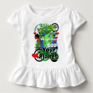 Herz Ihr Planet ist es ein Geschenk vom Gott Kleinkind T-shirt