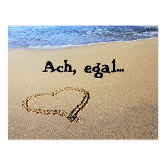 Herz im Sand - Ach, egal... Postkarte