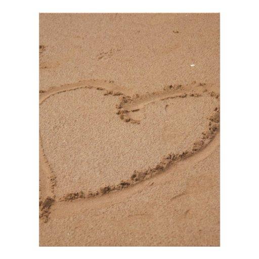 Herz im Sand Flyerdruck
