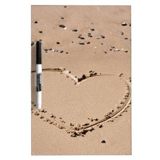 Herz im Sand Trockenlöschtafel
