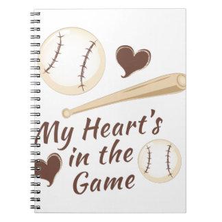 Herz im Spiel Notizblock