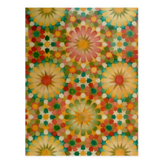 """""""Herz in der Blüte"""" islamische Geometriepostkarte Postkarte"""