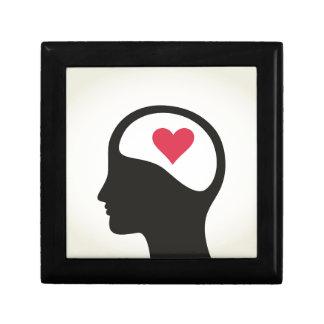 Herz in einem Kopf Schmuckschachtel
