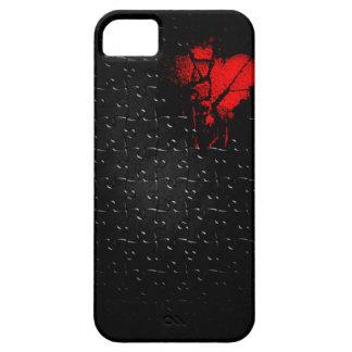 Herz in verlorenem Puzzlespiel iPhone 5 Case