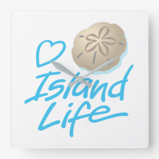 Herz-Insel-Stempeluhr mit Sand-Dollar Quadratische Wanduhr