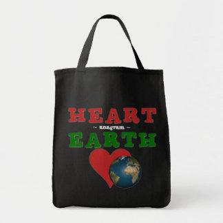 Herz ist Anagramm für Erde Tragetasche