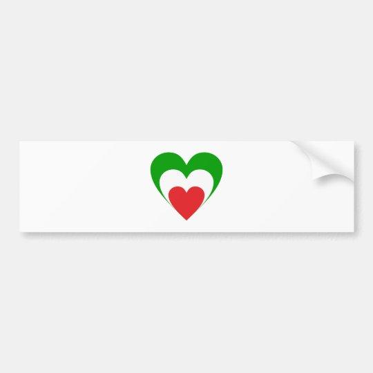 Herz Italien heart Italy Italia Autoaufkleber