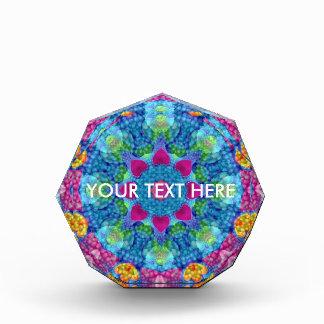 Herz-Kaleidoskop-   Acryl-Preise. 2 Formen Auszeichnung