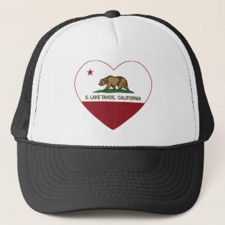 Herz Kalifornien-Flagge S. Lake Tahoe Truckerkappe