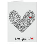 Herz-Karte, Valentinstag-Karte Grußkarte