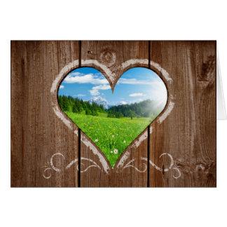 Herz-Knoten in der Zaun-Valentinstag-Karte Karte