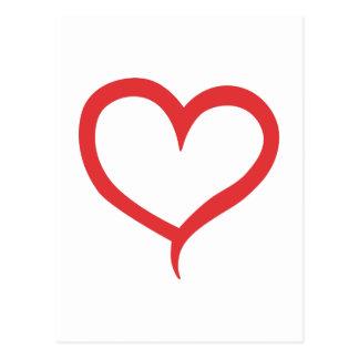 Herz-Kontur Postkarten