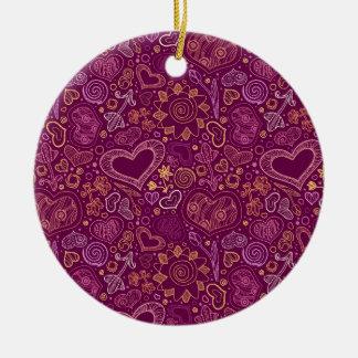 Herz-Kreis-Verzierung Keramik Ornament
