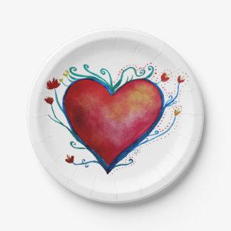 Herz-Kunst-Liebe-kundenspezifischer PapierTeller