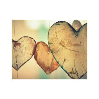 Herz-Leinwand Leinwanddruck