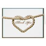 Herz-Liebe-Knoten-Western-Hochzeit danken Ihnen zu Karte