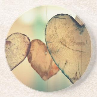 Herz-LiebeRomance Valentine-romantische Harmonie Getränkeuntersetzer
