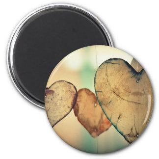 Herz-LiebeRomance Valentine-romantische Harmonie Runder Magnet 5,1 Cm