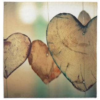 Herz-LiebeRomance Valentine-romantische Harmonie Stoffserviette