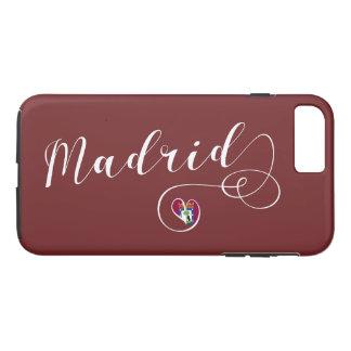 Herz-Madrid-Handy-Fall, Spanien iPhone 8 Plus/7 Plus Hülle
