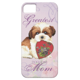 Herz-Mamma Shih Tzu iPhone 5 Etuis