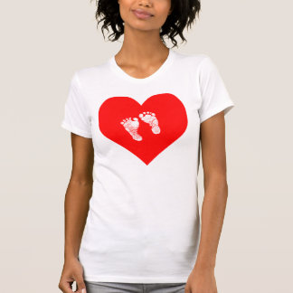 """""""HERZ MIT BABY-FÜSSEN """" T-Shirt"""