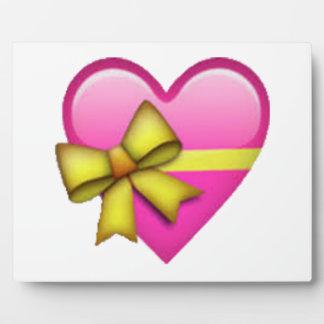 Herz mit Band - Emoji Fotoplatte