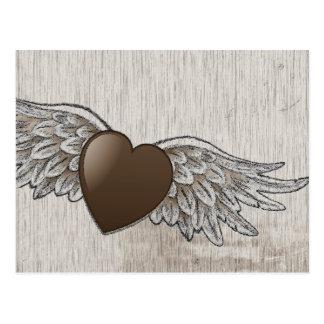 Herz mit Flügeln Postkarte