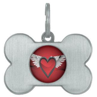 Herz mit Flügeln Tiermarke
