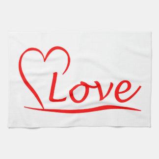 Herz mit Liebe Geschirrtuch