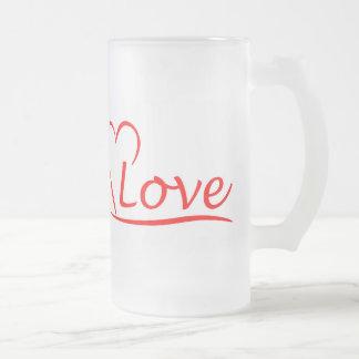 Herz mit Liebe Mattglas Bierglas