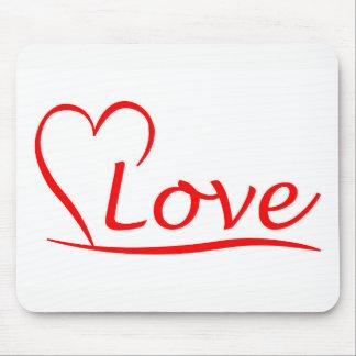 Herz mit Liebe Mousepad