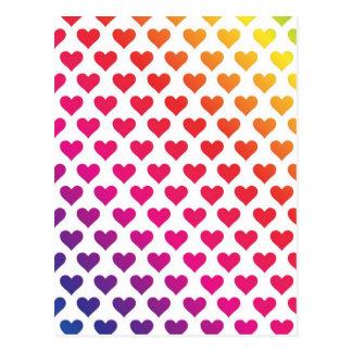 Herz-Muster - Regenbogen-Steigung Postkarten